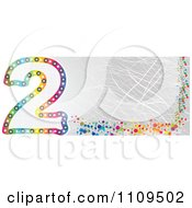 Clipart Colorful Number 2 Banner With Scratches Royalty Free Vector Illustration