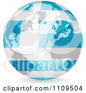 Clipart Blue Greek Flag Globe With Reflective Flares Bouncing Off Of The Surface Royalty Free Vector Illustration by Andrei Marincas