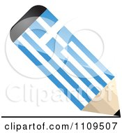 Clipart Greek Flag Pencil Drawing A Line Royalty Free Vector Illustration by Andrei Marincas