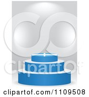 Clipart 3d Greek Flag Podium On A Gray Background Royalty Free Vector Illustration by Andrei Marincas