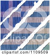 Clipart Torn Wooden Greek Flag Royalty Free Vector Illustration by Andrei Marincas