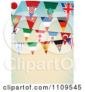 Clipart National Flag Bunting Banners Over Gradient With Copyspace Royalty Free Vector Illustration by elaineitalia