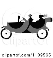 Clipart Silhouetted People In A Vintage Car Royalty Free Vector Illustration by Prawny Vintage