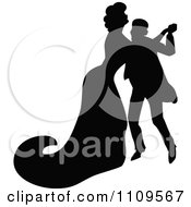 Clipart Silhouetted Couple Dancing Royalty Free Vector Illustration