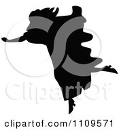 Clipart Silhouetted Woman Running Royalty Free Vector Illustration