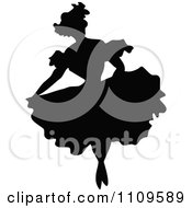 Clipart Silhouetted Ballerina Dancing 3 Royalty Free Vector Illustration