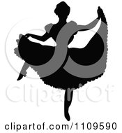 Clipart Silhouetted Ballerina Dancing 4 Royalty Free Vector Illustration