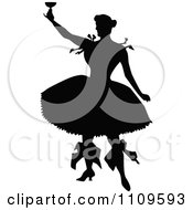 Clipart Silhouetted Ballerina Toasting Royalty Free Vector Illustration