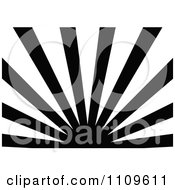 Clipart Black And White Sun And Rays Background 1 Royalty Free Vector Illustration