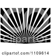 Clipart Black And White Sun And Rays Background 4 Royalty Free Vector Illustration