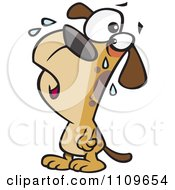 Clipart Dog Whining Royalty Free Vector Illustration