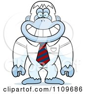 Clipart Yeti Abominable Snowman Monkey Wearing A Tie Royalty Free Vector Illustration