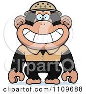 Clipart Chimpanzee Explorer Royalty Free Vector Illustration