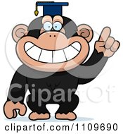 Clipart Chimpanzee Professor Wearing A Cap Royalty Free Vector Illustration by Cory Thoman