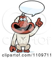 Clipart Macaque Monkey Talking Royalty Free Vector Illustration by Cory Thoman