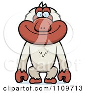 Clipart Macaque Monkey Royalty Free Vector Illustration by Cory Thoman