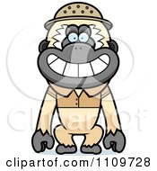Clipart Gibbon Monkey Explorer Royalty Free Vector Illustration by Cory Thoman