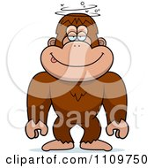 Clipart Drunk Or Dumb Bigfoot Sasquatch Royalty Free Vector Illustration