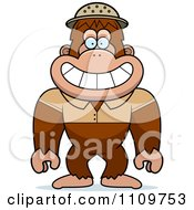 Clipart Bigfoot Sasquatch Explorer Royalty Free Vector Illustration