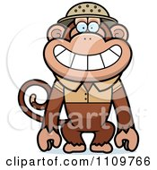 Clipart Monkey Explorer Royalty Free Vector Illustration by Cory Thoman
