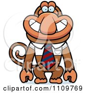 Clipart Proboscis Monkey Wearing A Tie Royalty Free Vector Illustration
