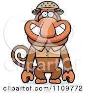 Clipart Proboscis Monkey Explorer Royalty Free Vector Illustration by Cory Thoman