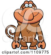 Clipart Happy Proboscis Monkey Royalty Free Vector Illustration