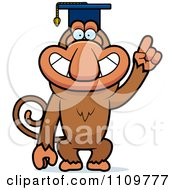 Clipart Proboscis Monkey Professor Wearing A Cap Royalty Free Vector Illustration by Cory Thoman