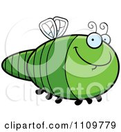 Clipart Grinning Dragonfly Royalty Free Vector Illustration by Cory Thoman