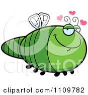 Clipart Amorous Dragonfly Royalty Free Vector Illustration by Cory Thoman