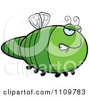 Clipart Angry Dragonfly Royalty Free Vector Illustration by Cory Thoman