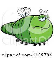 Clipart Depressed Dragonfly Royalty Free Vector Illustration by Cory Thoman