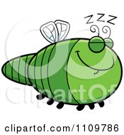 Clipart Sleeping Dragonfly Royalty Free Vector Illustration by Cory Thoman