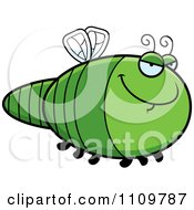 Clipart Sly Dragonfly Royalty Free Vector Illustration by Cory Thoman