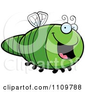 Clipart Happy Dragonfly Royalty Free Vector Illustration by Cory Thoman