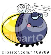 Clipart Drunk Firefly Lightning Bug Royalty Free Vector Illustration by Cory Thoman