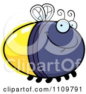 Clipart Grinning Firefly Lightning Bug Royalty Free Vector Illustration by Cory Thoman
