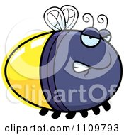 Clipart Angry Firefly Lightning Bug Royalty Free Vector Illustration by Cory Thoman