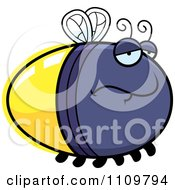 Clipart Depressed Firefly Lightning Bug Royalty Free Vector Illustration by Cory Thoman