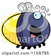 Clipart Scared Firefly Lightning Bug Royalty Free Vector Illustration by Cory Thoman