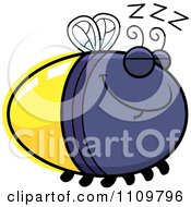 Clipart Sleeping Firefly Lightning Bug Royalty Free Vector Illustration by Cory Thoman