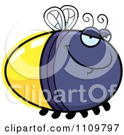 Clipart Sly Firefly Lightning Bug Royalty Free Vector Illustration by Cory Thoman