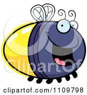 Clipart Happy Firefly Lightning Bug Royalty Free Vector Illustration by Cory Thoman