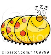 Clipart Sleeping Caterpillar Royalty Free Vector Illustration by Cory Thoman