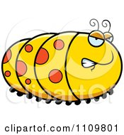 Clipart Angry Caterpillar Royalty Free Vector Illustration by Cory Thoman