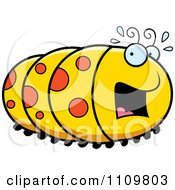 Clipart Scared Caterpillar Royalty Free Vector Illustration by Cory Thoman