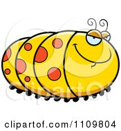 Clipart Sly Caterpillar Royalty Free Vector Illustration by Cory Thoman