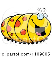 Clipart Happy Caterpillar Royalty Free Vector Illustration by Cory Thoman