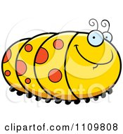 Clipart Grinning Caterpillar Royalty Free Vector Illustration by Cory Thoman
