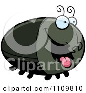 Clipart Hungry Beetle Royalty Free Vector Illustration